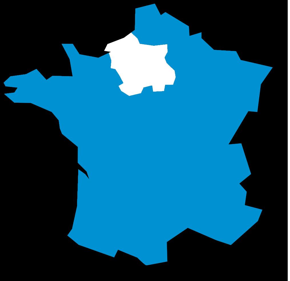 Nous intervenons en Île de France, Haute-Normandie, Centre et Picardie