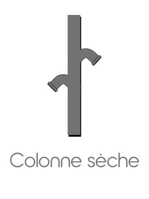 Colonne sèche